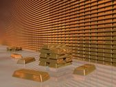 Gold Bar Vault — Stock Photo