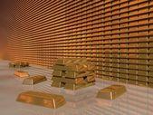 Gold Bar Vault — Stock Photo