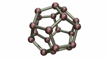Rotating C20 Fullerene — Stock Video