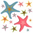 Star fishes — Stock Vector