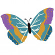 Royalty-Free Stock Photo: Vector illustration of beautiful butterfly