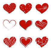 Каракули день Сердечки — Cтоковый вектор