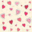 Royalty-Free Stock Vektorgrafik: Valentine seamless pattern