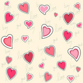 Valentine seamless pattern — Stock vektor