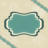 Vintage retro frame — Stock Vector