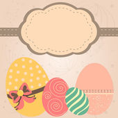 卡与复古式服务的复活节彩蛋 — 图库矢量图片