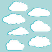 White clouds — Vector de stock
