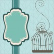 Stock Vector: Vintage design with birdcages