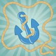 Vintage anchor — Stock Vector