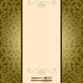 Luxury menu — Vector de stock