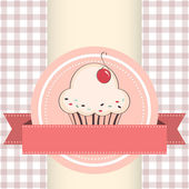 Vector illustration of cupcake — Stock Vector