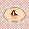 Retro cupcake card — Stock Vector #27366843
