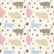 Seamless cats pattern — Stock Vector
