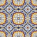 Seamless colourful ornament tiles — Stock Vector
