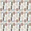 Cutlery pattern — Stock Vector