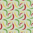 Peppers pattern — Stock Vector