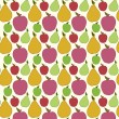 Vector fruit seamless pattern — Stock Vector