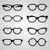 Set of glasses — Stock Vector