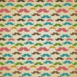 Seamless pattern with mustache — Stock Vector #30888333
