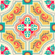 Seamless colourful ornament tiles — Stock Vector