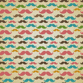 Seamless pattern with mustache — Stock Vector
