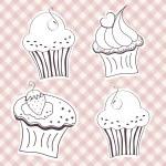 kremalı cupcake — Stok Vektör #31611037