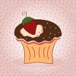 Delicious cupcake — Stock Vector