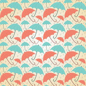 Pastel umbrellas — Stock Vector