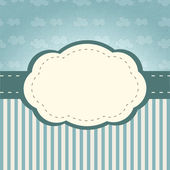 Clouds frame — Stock Vector