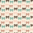Bows pattern — Stockvektor