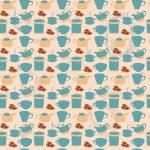Tea tableware pattern — Stock Vector #34502249