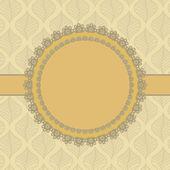 Vintage lace frame — Vecteur
