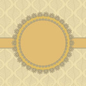 Vintage lace frame — Stock vektor