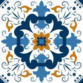 Seamless ornamento colorate piastrelle — Vettoriale Stock