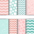 Set of seamless patterns — Stock Vector #38365701