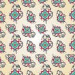 Paisley heart seamless pattern — Vecteur