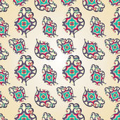 Paisley heart seamless pattern — 图库矢量图片