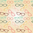 Stock Vector: Seamless glasses pattern