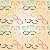 Seamless glasses pattern — ストックベクタ
