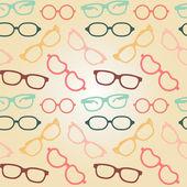 Vzor bezešvé brýle — Stock vektor
