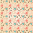 Vecteur: Hearts pattern