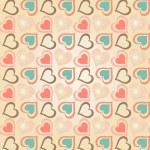 patrón de corazones — Vector de stock