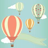 Hot air balloons — Stock Vector