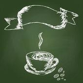 手描きのコーヒー — ストックベクタ
