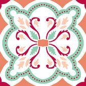 古い花のタイル — ストックベクタ