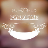 Paradise poster — Stock Vector