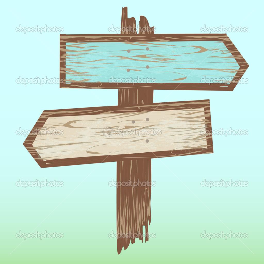 Letrero de madera flechas vector de stock anamomarques - Letreros en madera ...