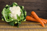 Carrot  and cauliflower — Stock Photo