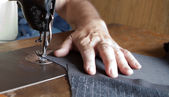 Sewing machine handiwork — Stock Photo