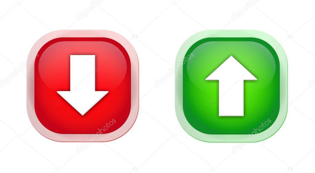 Icon arrow up and down — Stock Photo © artstudio_pro #12583394